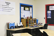 Ambition Photo Metal Prints - School Teachers Desk Metal Print by Skip Nall
