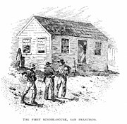 One Room Schoolhouse Prints - Schoolhouse, 1848 Print by Granger