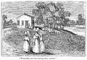 One Room Schoolhouse Prints - Schoolhouse, 1866 Print by Granger
