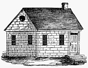 18th Century Prints - Schoolhouse, 18th Century Print by Granger