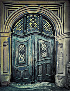 Entrance Door Digital Art Posters - Schoolhouse Entrance Poster by Jutta Maria Pusl