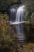 Autumn Prints Prints - Schoolhouse Falls Print by Rob Travis