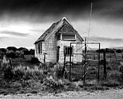 Old Cabins Photos - Schools Out BW by Lydia Warner Miller