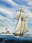 Nautical Greeting Card Posters - Schooner Californian Poster by James Williamson