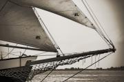 Clouds Digital Art Originals - Schooner Pride Tall Ship Charleston SC by Dustin K Ryan