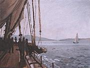 San Juan Paintings - Schooner Zodiac by Robert Bissett