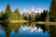 Grand Tetons Photos - Schwabacher Landing by Steve Stuller