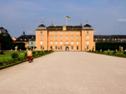 Steel Greeting Cards Framed Prints - Schwetzingen Castle Framed Print by Deborah  Crew-Johnson