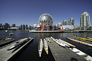 Bluesky Photo Prints - Science World boats Print by Terry Dadswell
