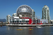 Bluesky Metal Prints - Science World Closeup Metal Print by Terry Dadswell