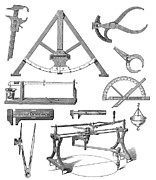 Drafting Framed Prints - Scientific Equipment, Historical Artwork Framed Print by Mehau Kulyk