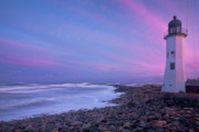 United States Lighthouses Posters - Scituate Sunset  Poster by Susan Cole Kelly
