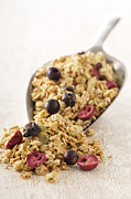 Granola Posters - Scoop Of Cereal With Dried Fruit Poster by Jean-Christophe Riou