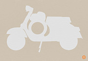 Transportation Drawings Metal Prints - Scooter Brown Poster Metal Print by Irina  March