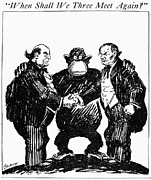 Cartoon Drawings - Scopes Trial Cartoon 1925 by Granger