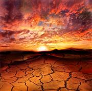 Red Art - Scorched Earth by Photodream Art