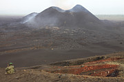 Volcanic Activity Framed Prints - Scoria Cone On Nyamuragira Volcano Framed Print by Richard Roscoe