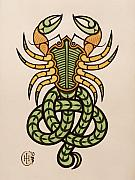 Celtic Knotwork Prints - Scorpio Print by Ian Herriott