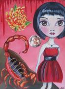 Surrealist Paintings - Scorpio by Jaz Higgins
