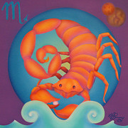 Zodiac Paintings - Scorpio by Marcia  Perry