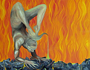 Yoga Pose Paintings - Scorpion by Aarron  Laidig