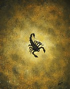 Edwin Alverio Prints - Scorpion Print by Edwin Alverio