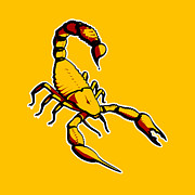 Stencil Digital Art Posters - Scorpion Graphic  Poster by Pixel Chimp