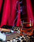 Cheers Prints - Scotch and Cigar Print by Paul  Wilford