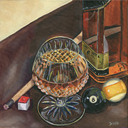 Cigars Art - Scotch and Cigars 1 by Debbie DeWitt