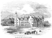 1854 Prints - Scotland: Balmoral Castle Print by Granger