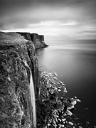 Scotland Framed Prints - Scotland Kilt Rock Framed Print by Nina Papiorek