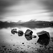 Scotland Photo Posters - Scotland Lomond Rocks Poster by Nina Papiorek
