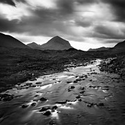 River. Clouds Prints - Scotland River Print by Nina Papiorek