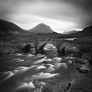 Rain Art - Scotland Sligachan River by Nina Papiorek