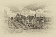 Moated Castle Prints - Scotney Castle 2 Print by Chris Thaxter