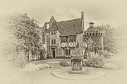 Moated Castle Prints - Scotney Castle Print by Chris Thaxter