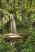 Michigan Waterfalls Prints - Scott Fall Summer Print by Michael Peychich