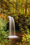 Fall Photographs Prints - Scott Falls Print by Michael Peychich