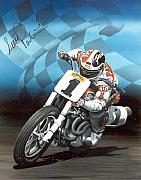 Autographed Paintings - Scott Parker by Harry Miller