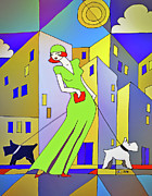 Dog Walking Mixed Media Posters - Scottie-licious Poster by Zbigniew Rusin
