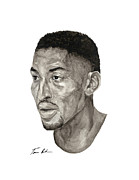Scottie Painting Posters - Scottie Pippen Poster by Tamir Barkan