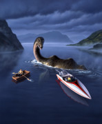 Dinosaur Paintings - Scottish Cuisine by Jerry LoFaro