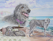 Depicting Paintings - Scottish Deerhound by Gail Dolphin