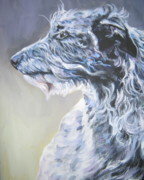 Sighthound Art - Scottish Deerhound by Lee Ann Shepard