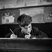 Schoolboy Framed Prints - Scottish Schoolboy Framed Print by Thurston Hopkins