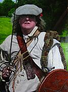 Tartan Painting Posters - Scottish soldier of the Sealed Knot at the Ruthin Seige Re-enactment Poster by Harry Robertson