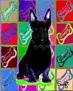 Scottish Terrier Paintings - Scottish Terrier by Char Swift