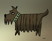 Scottish Terrier Digital Art - Scottish Terrier by Daniel Meola