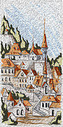 Art Of Wine Prints - Scottish Town Print by Cheryl Young