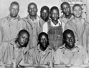 African-americans Photo Framed Prints - Scottsboro Boys In Jefferson County Framed Print by Everett